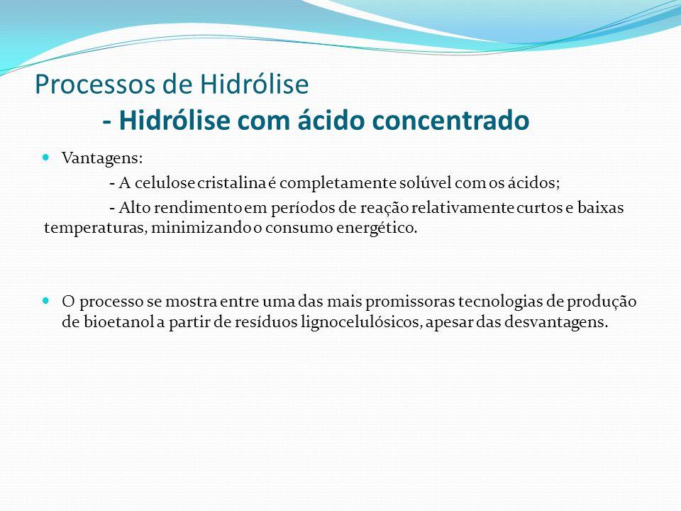 Processos de Hidrólise - Hidrólise com ácido concentrado