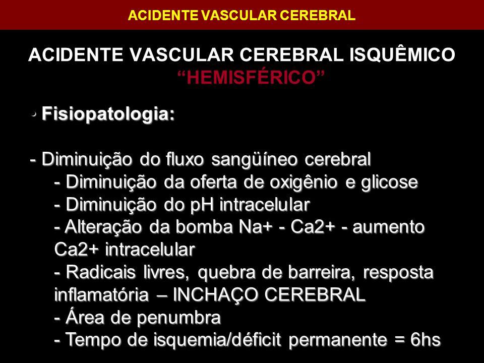 ACIDENTE VASCULAR CEREBRAL
