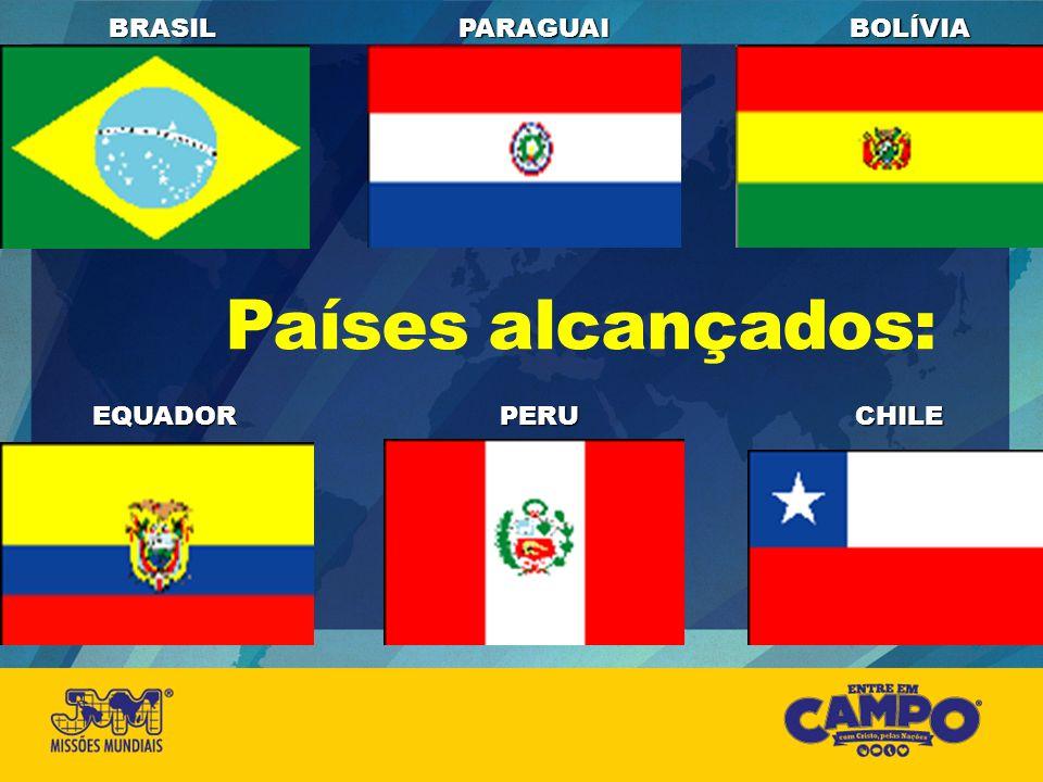 BRASIL PARAGUAI BOLÍVIA Países alcançados: EQUADOR PERU CHILE