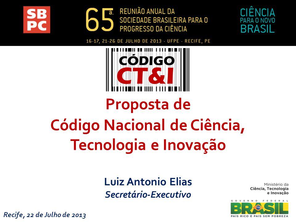 Código Nacional de Ciência, Tecnologia e Inovação Secretário-Executivo