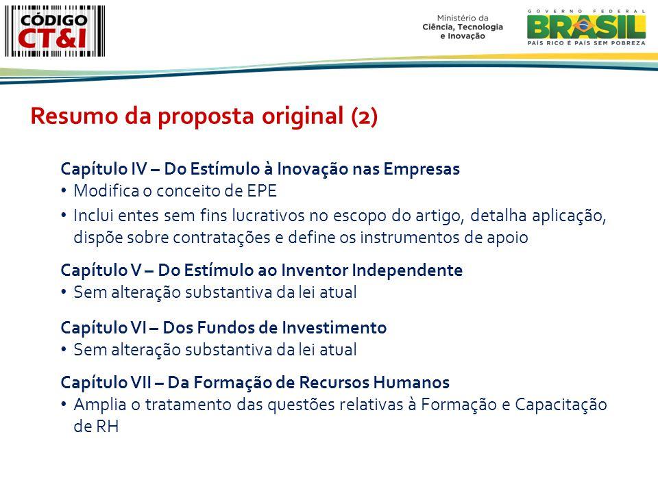 Resumo da proposta original (2)