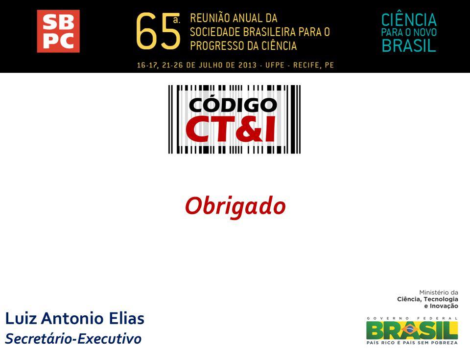 Obrigado Luiz Antonio Elias Secretário-Executivo