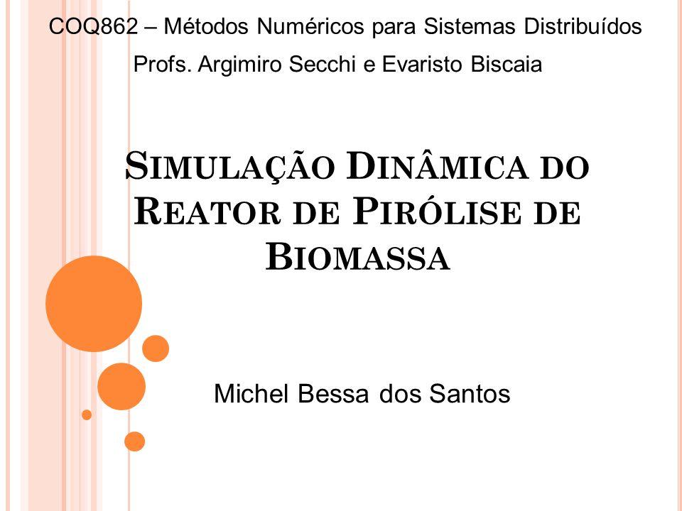 Simulação Dinâmica do Reator de Pirólise de Biomassa