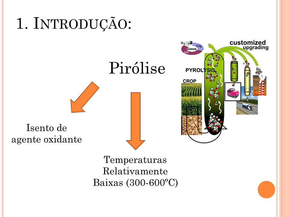 1. Introdução: Pirólise Isento de agente oxidante