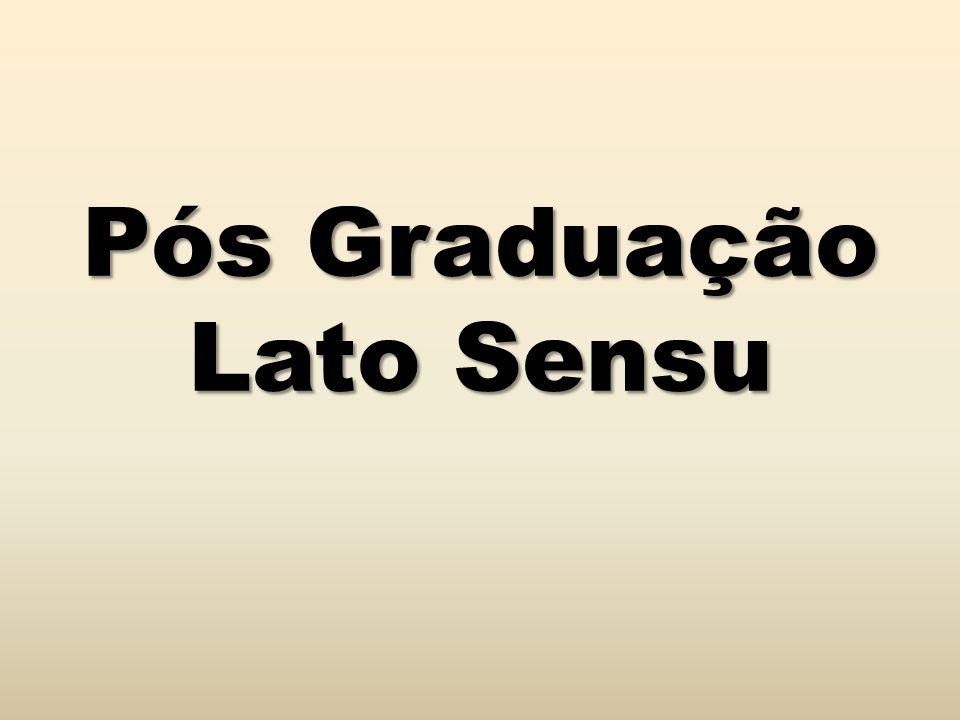 Pós Graduação Lato Sensu