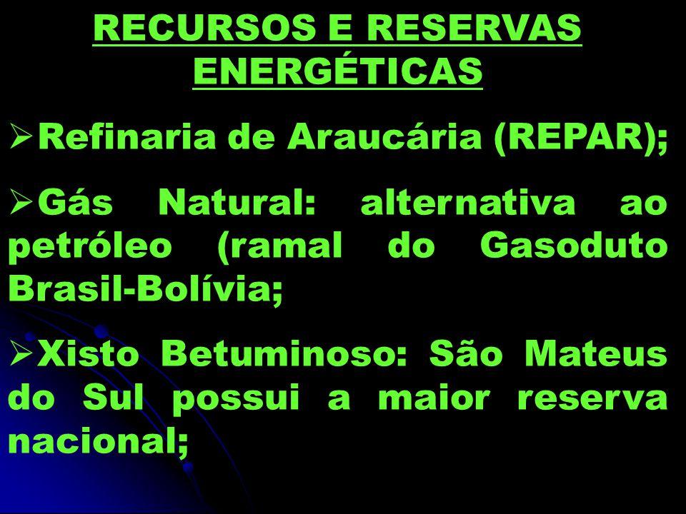RECURSOS E RESERVAS ENERGÉTICAS