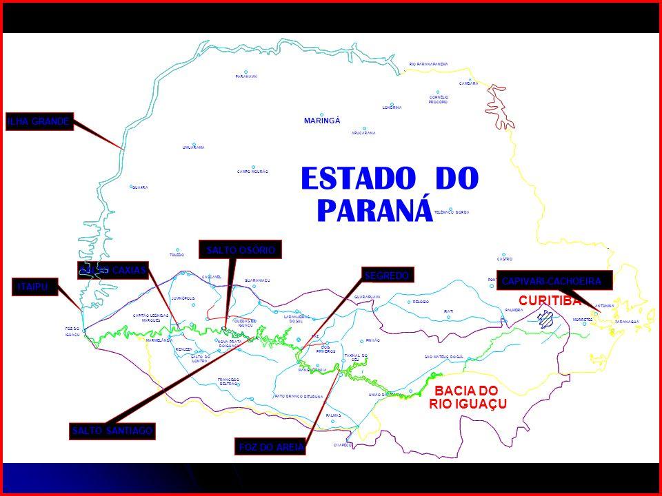 ESTADO DO PARANÁ CURITIBA BACIA DO RIO IGUAÇU ILHA GRANDE SEGREDO
