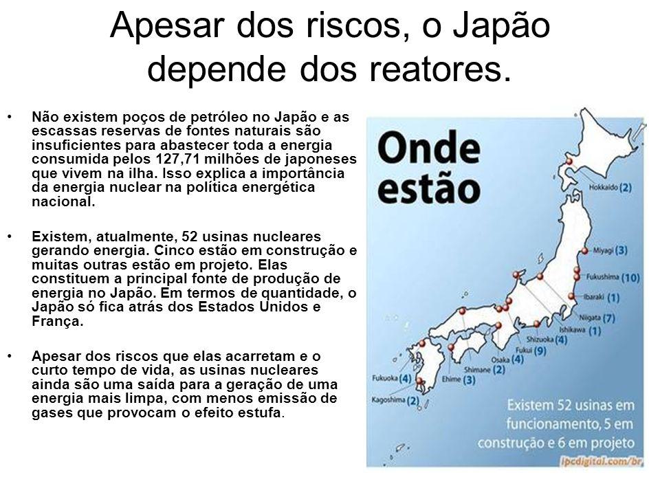 Apesar dos riscos, o Japão depende dos reatores.