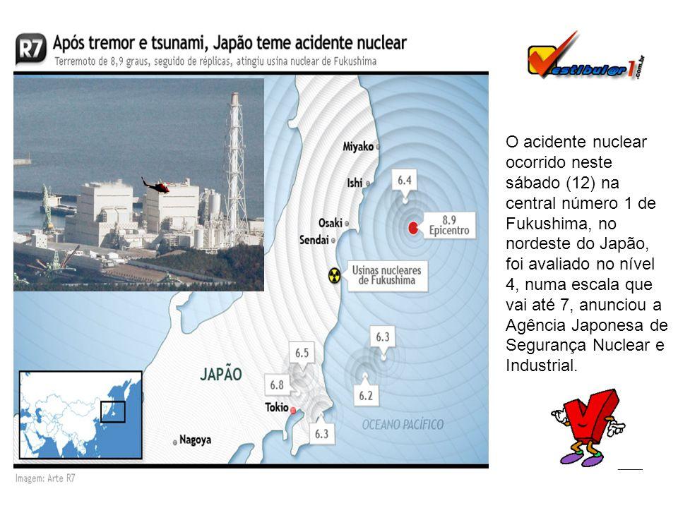 O acidente nuclear ocorrido neste sábado (12) na central número 1 de Fukushima, no nordeste do Japão, foi avaliado no nível 4, numa escala que vai até 7, anunciou a Agência Japonesa de Segurança Nuclear e Industrial.