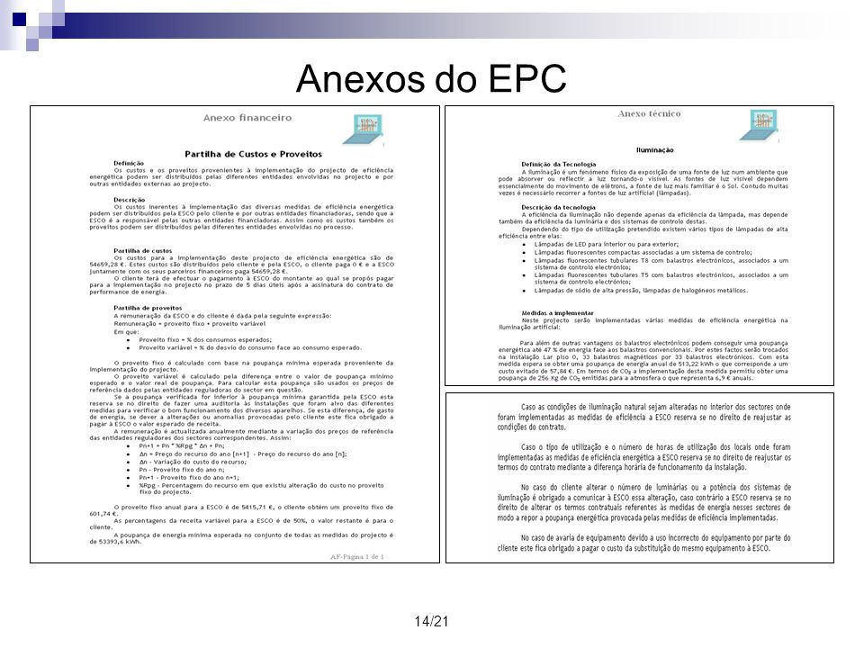 Anexos do EPC