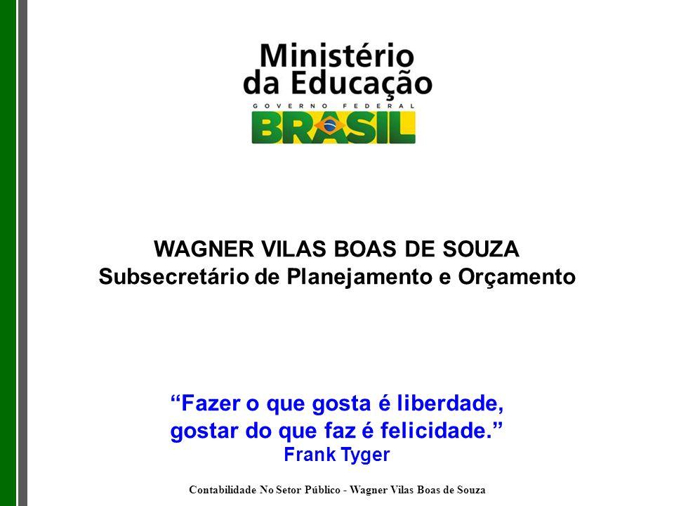 WAGNER VILAS BOAS DE SOUZA Subsecretário de Planejamento e Orçamento