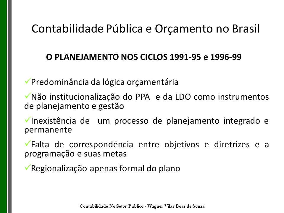 O PLANEJAMENTO NOS CICLOS 1991-95 e 1996-99