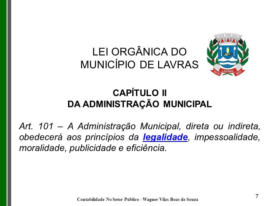 LEI ORGÂNICA DO MUNICÍPIO DE LAVRAS CAPÍTULO II