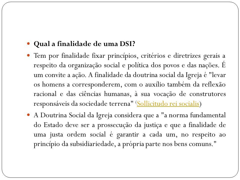 Qual a finalidade de uma DSI