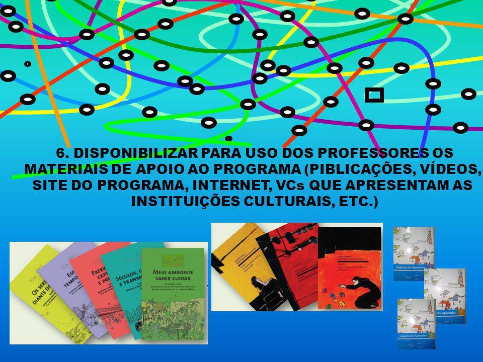 6. DISPONIBILIZAR PARA USO DOS PROFESSORES OS