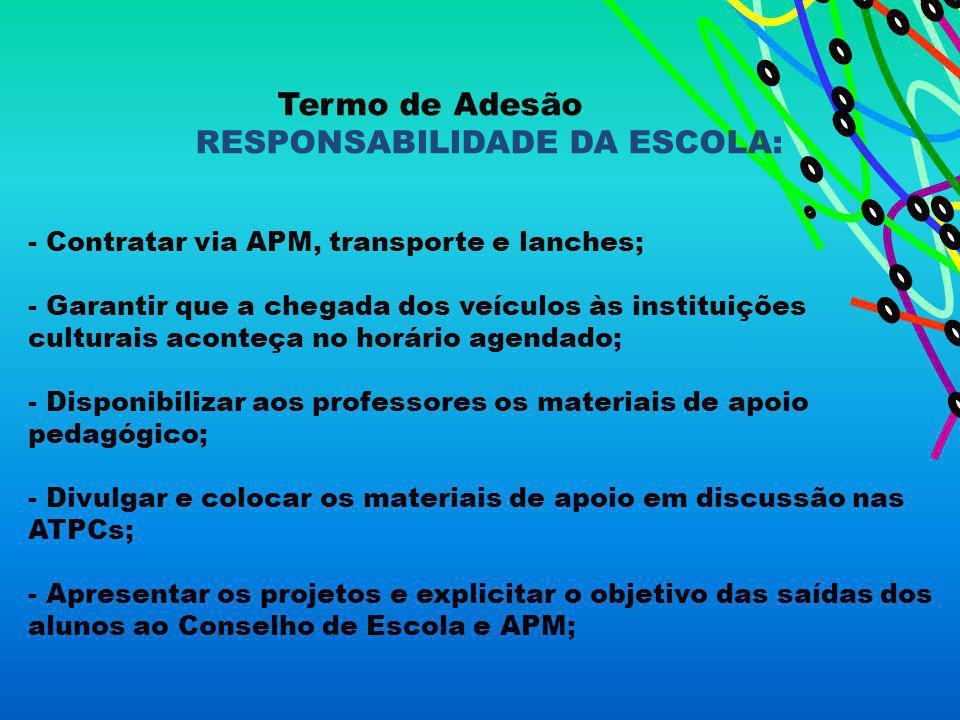 RESPONSABILIDADE DA ESCOLA: