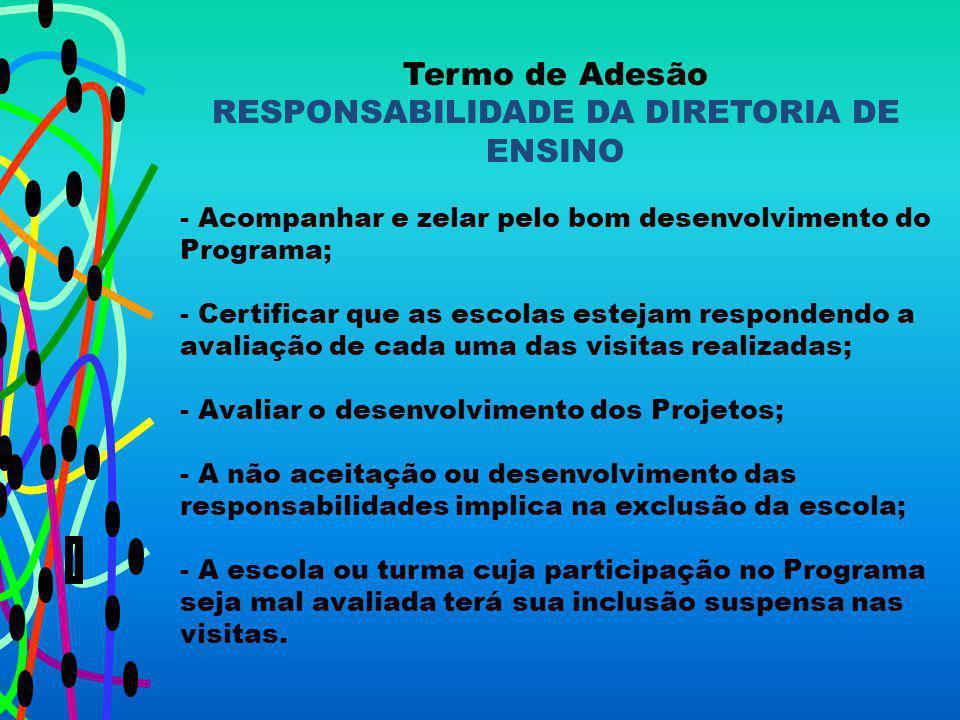 RESPONSABILIDADE DA DIRETORIA DE ENSINO