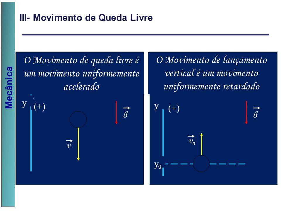 O Movimento de queda livre é um movimento uniformemente acelerado