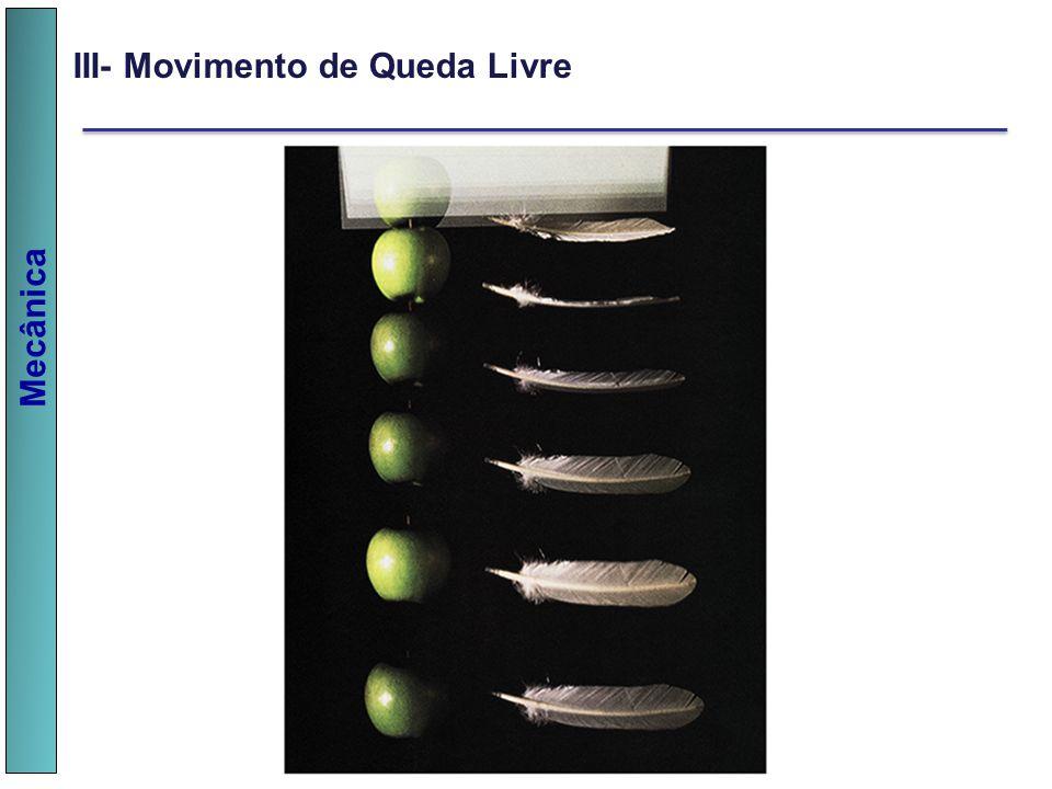 III- Movimento de Queda Livre
