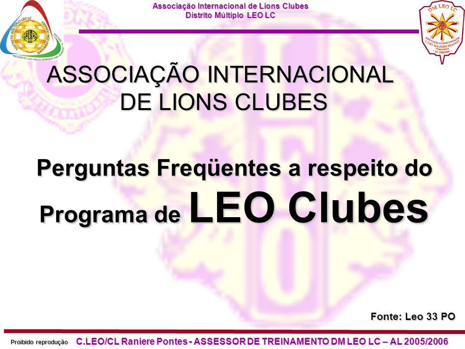 Perguntas Freqüentes a respeito do Programa de LEO Clubes