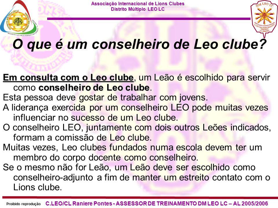 O que é um conselheiro de Leo clube