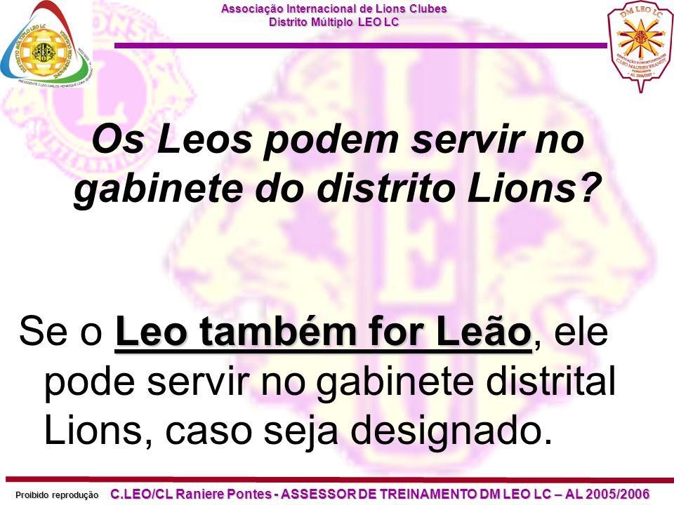 Os Leos podem servir no gabinete do distrito Lions