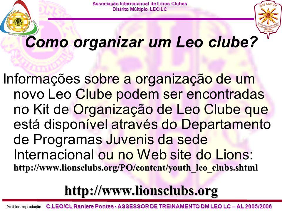 Como organizar um Leo clube