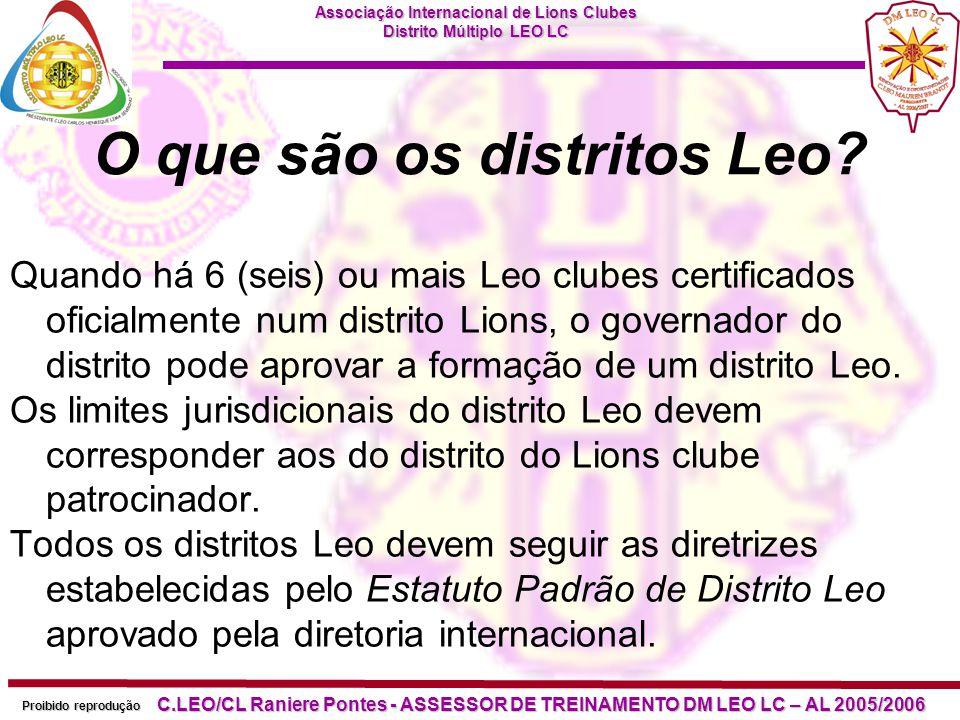 O que são os distritos Leo
