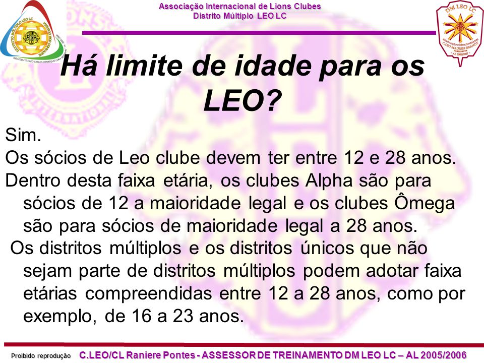 Há limite de idade para os LEO
