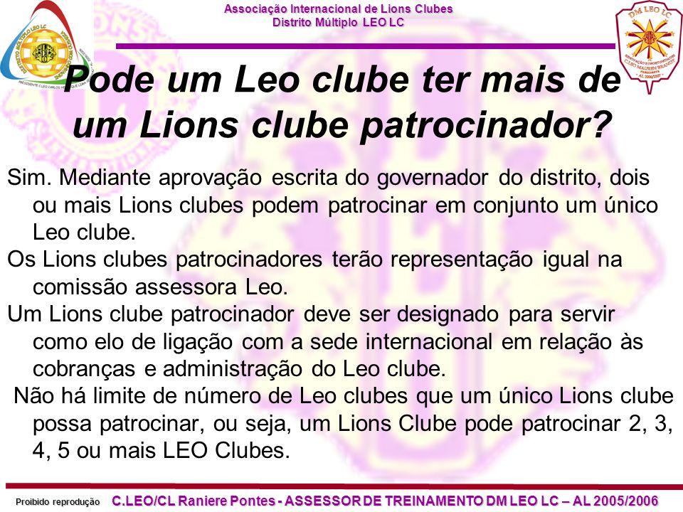Pode um Leo clube ter mais de um Lions clube patrocinador
