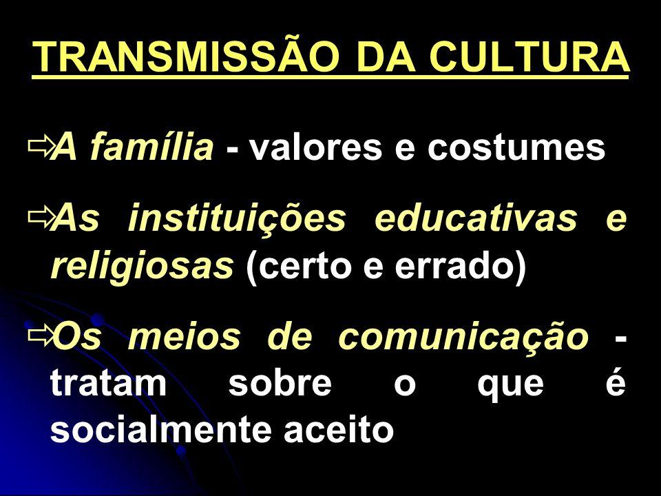 TRANSMISSÃO DA CULTURA
