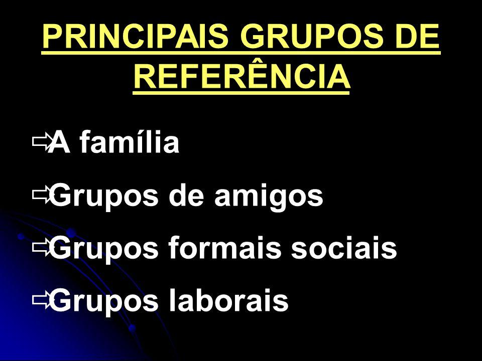 PRINCIPAIS GRUPOS DE REFERÊNCIA
