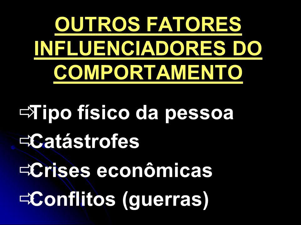 OUTROS FATORES INFLUENCIADORES DO COMPORTAMENTO