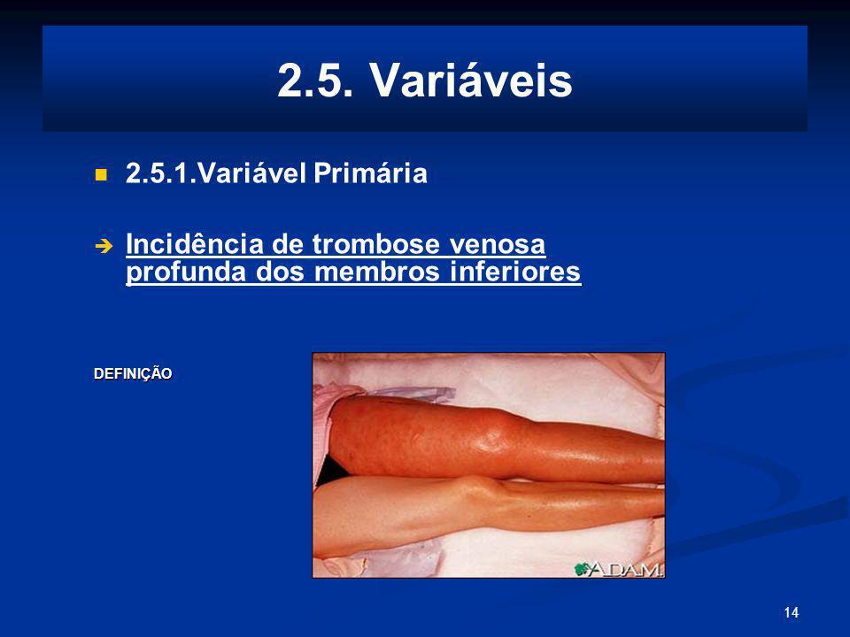 2.5. Variáveis 2.5.1.Variável Primária
