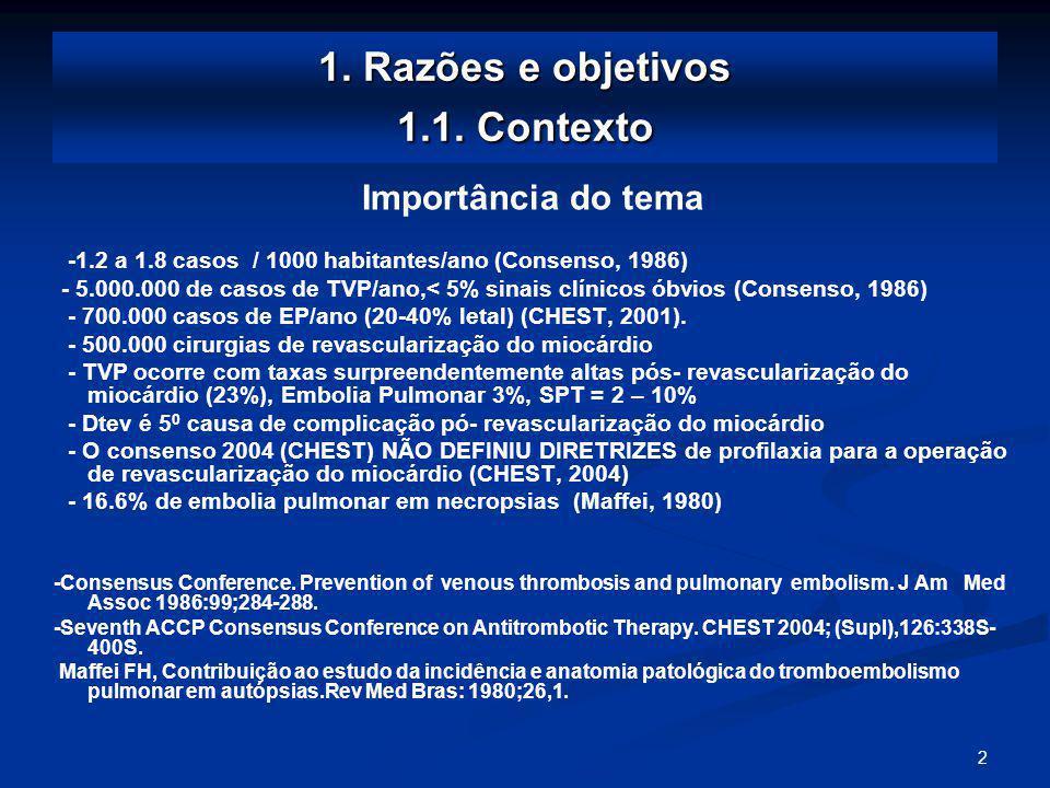 1. Razões e objetivos 1.1. Contexto