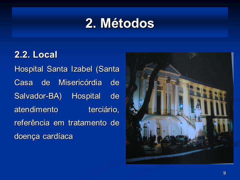 2. Métodos 2.2. Local.