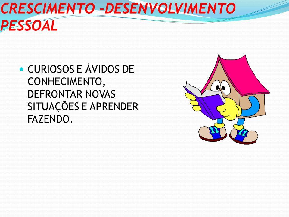 CRESCIMENTO –DESENVOLVIMENTO PESSOAL