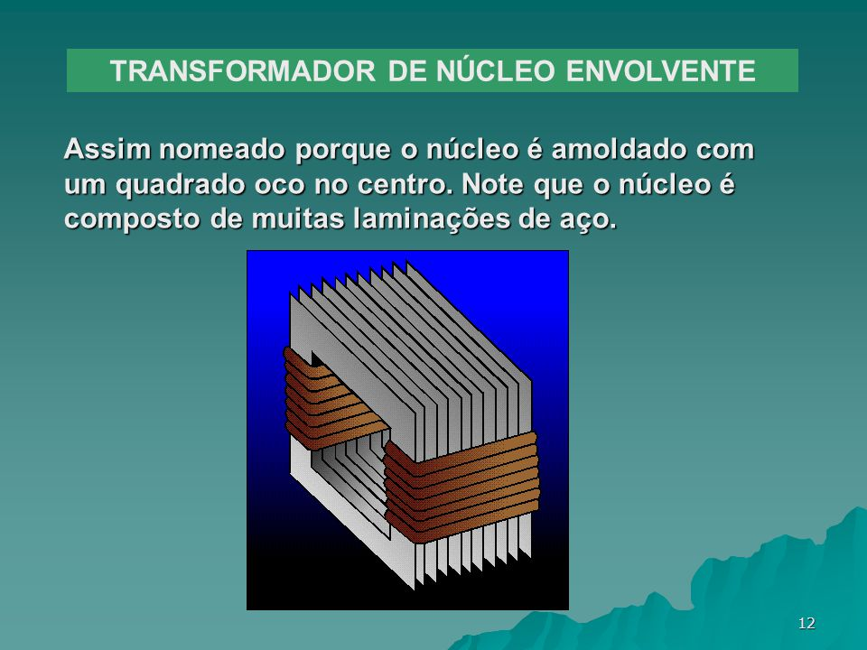 TRANSFORMADOR DE NÚCLEO ENVOLVENTE