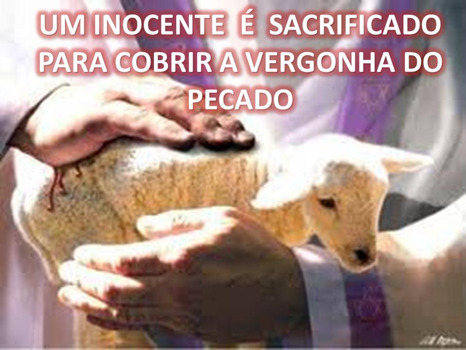 UM INOCENTE É SACRIFICADO PARA COBRIR A VERGONHA DO PECADO