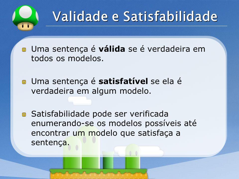 Validade e Satisfabilidade
