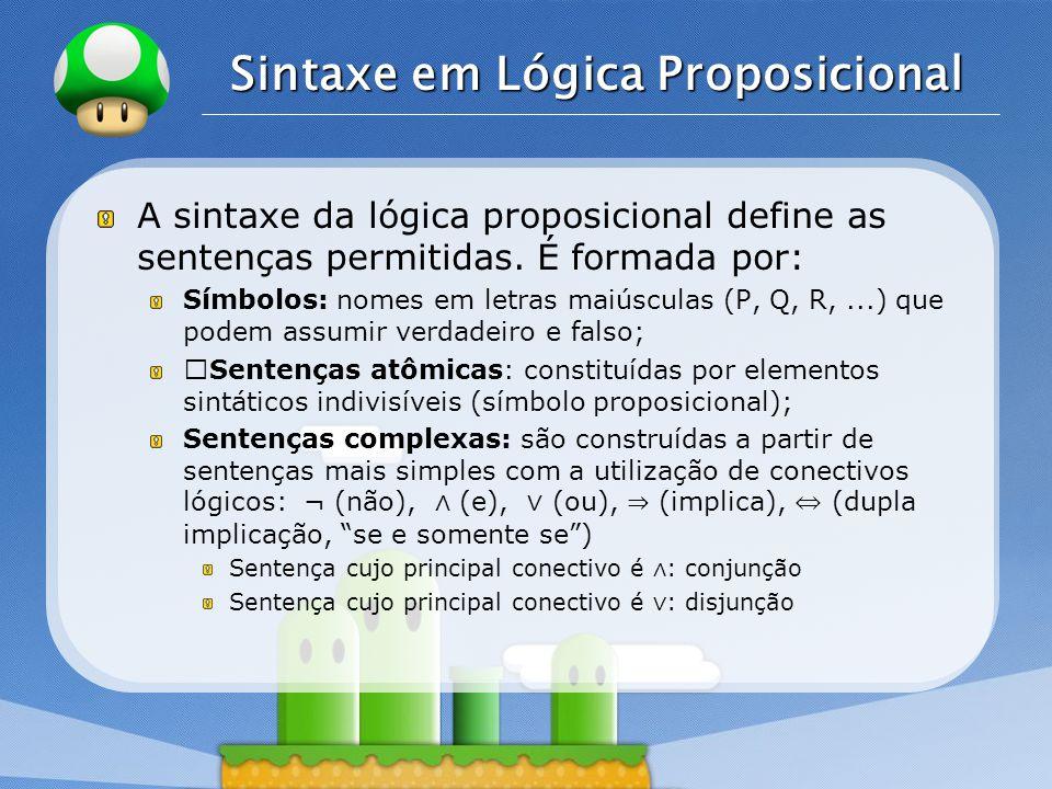 Sintaxe em Lógica Proposicional