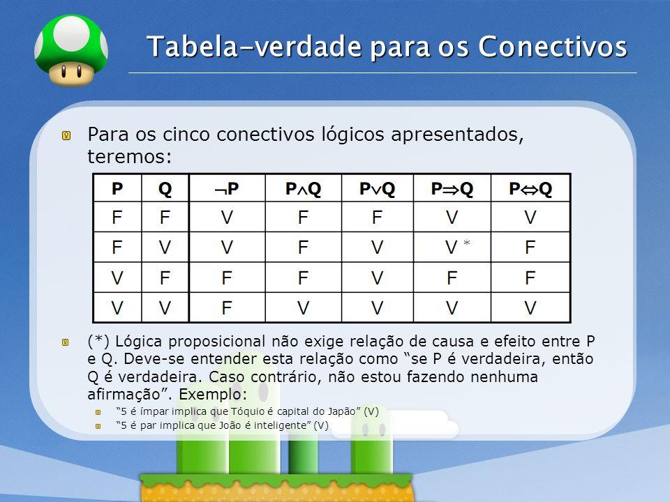 Tabela-verdade para os Conectivos
