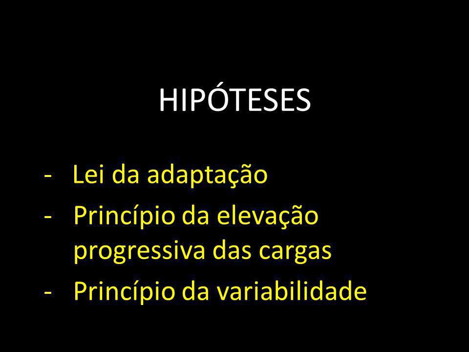 HIPÓTESES - Lei da adaptação