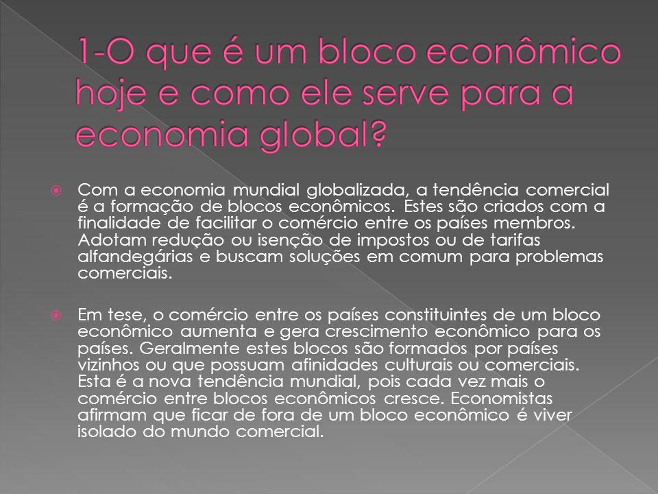 1-O que é um bloco econômico hoje e como ele serve para a economia global