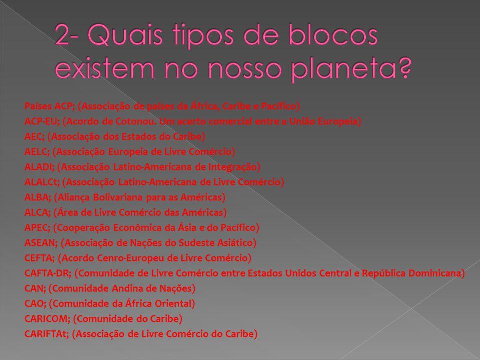 2- Quais tipos de blocos existem no nosso planeta