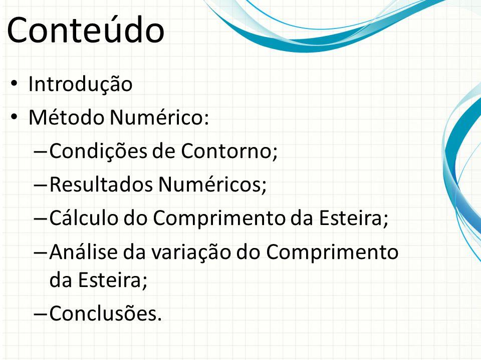 Conteúdo Introdução Método Numérico: Condições de Contorno;