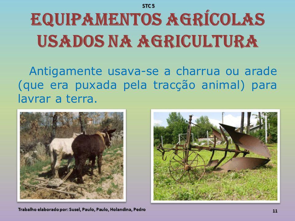 Equipamentos agrícolas usados na agricultura