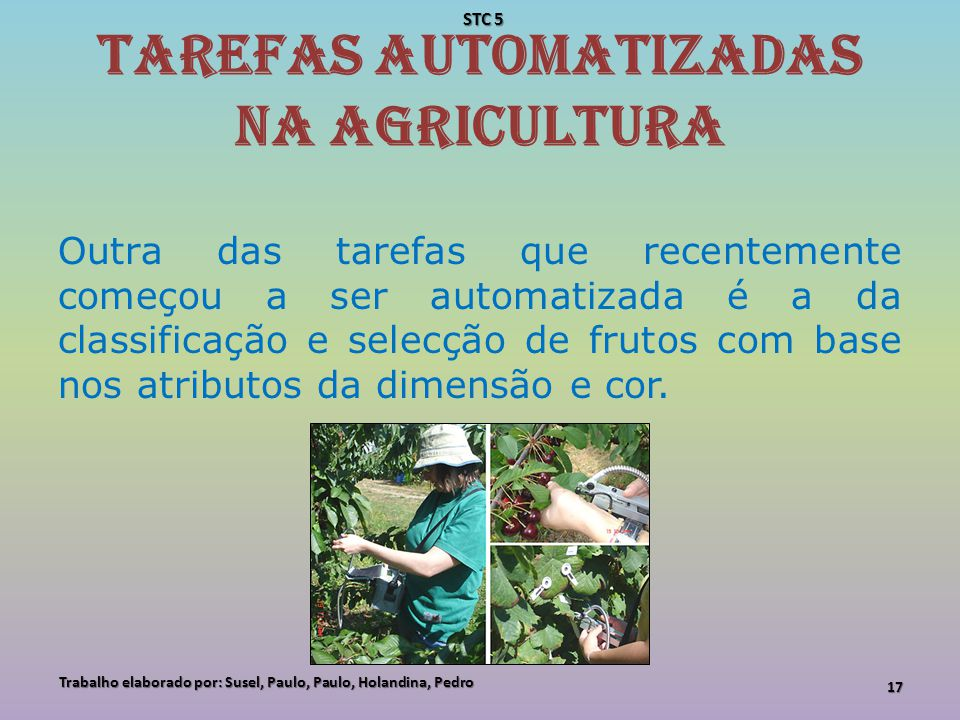 Tarefas automatizadas na agricultura