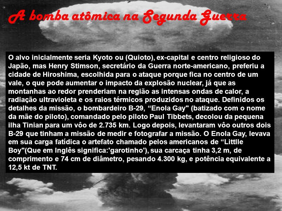 A bomba atômica na Segunda Guerra