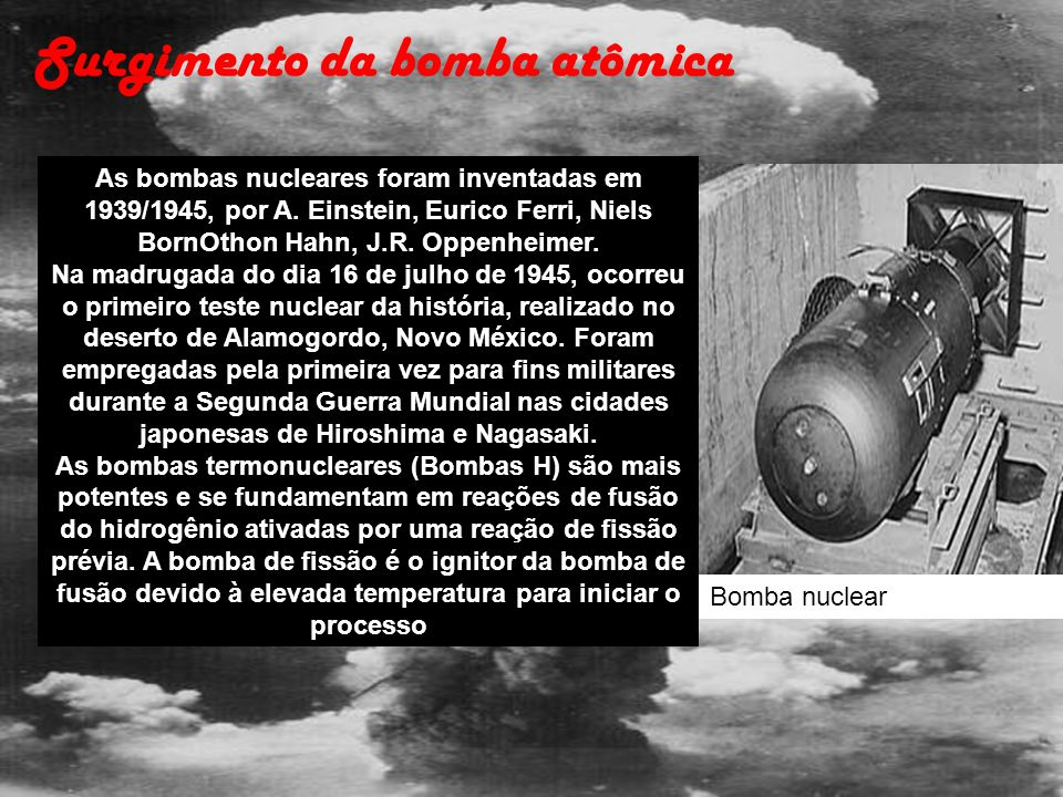 Surgimento da bomba atômica
